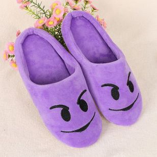 Fashion Emoji Slippers Non-slip Indoor Floor Shoes House Shoes