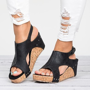 Sequin Wedge Heel Shoes