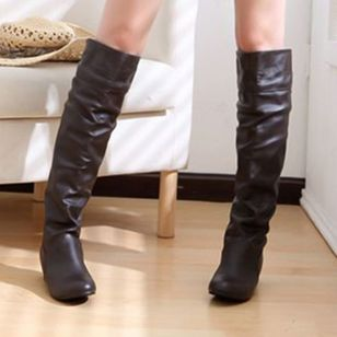 Women's Winter Knee High Boots High Tube Flat Heels Riding Boots