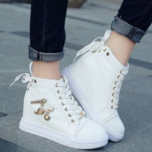 Zipper Lace-up Flats Flat Heel Shoes