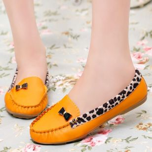 Round Toe Flat Heel Shoes