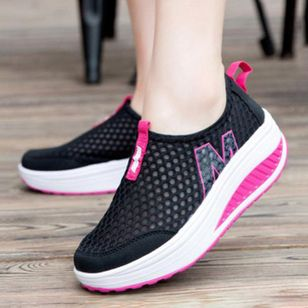 Fashion Fitness Sport Breathable Shake Shoes Women Mesh Casual Platform Sneakers Plus Size 35-41