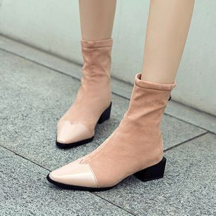 Mid-Calf Boots Chunky Heel Shoes