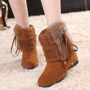 Mid-Calf Boots Flat Heel Shoes