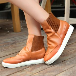 Chaussures Talon plat Bottines