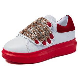 Sequin Split Joint Closed Toe Low Heel Shoes