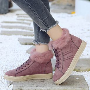 Lace-up Ankle Boots Flat Heel Shoes