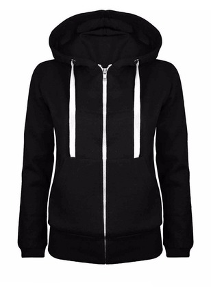 Plain Casual Hooded Niets Sweaters