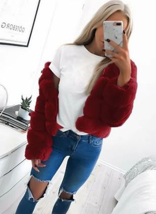 Inverno Donna Moda Plus Size Inverno Faux Fur Women Coat Warm Short Capelli Furry Ladies Outwear Fake Fur Females Fashion Jacket
