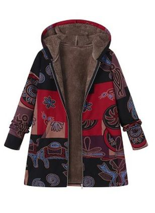 New Style Fashion Women's hooded thick coat winter cotton jacket warm hooded jacket Overcoat Outercoat