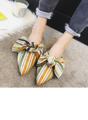 cbcf378af2c8 Bowknot Ribbon Tie Pointed Toe Flat Heel Shoes - Airydress