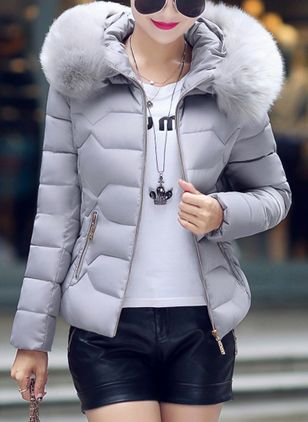 Plus Size S-XXXL Winter Women Down Coat Warm Cotton Jackets Female Cotton-Padded Coat Large Fur Collar With Hoodie Parkas