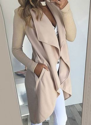 2018 Spring New Fashion Women Irregular Overcoat Solid Color Slim Fit Coats and Jackets Casual Long Outerwear Windbreaker
