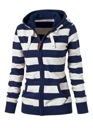 Long Sleeve Hooded Zipper Coats