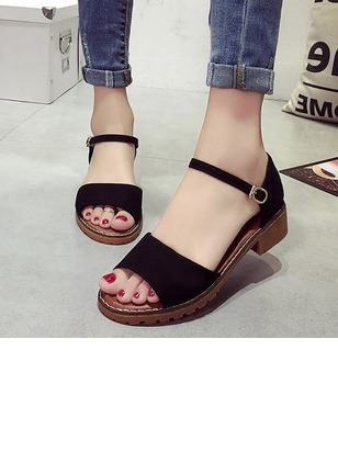 Buckle Low Heel Shoes