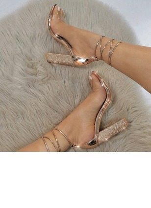 Ankle Strap Heels Chunky Heel Shoes