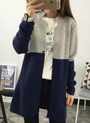 Long Sleeve Round Neck Coats