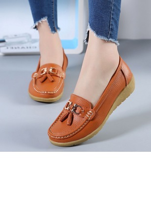 Closed Toe Wedge Heel Shoes