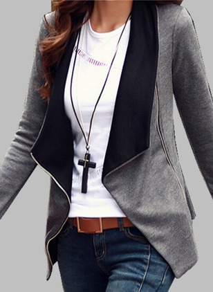 Long Sleeve Lapel Peacoats