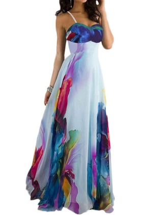Color Block Sleeveless Maxi Shift Dress