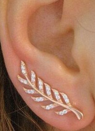 Elegant Floral Crystal Stud Earrings (146937174)