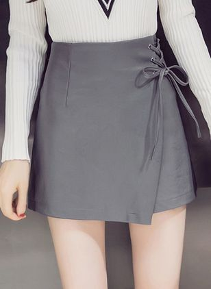 Solid Above Knee Elegant Others Skirts