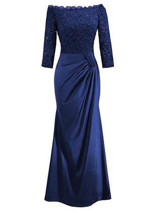 Solid Lace Pencil Maxi Sheath Dress