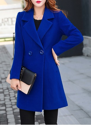 Long Sleeve Lapel Trench Coats