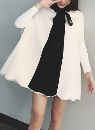 Solid Bow Sleeveless Above Knee Shift Dress