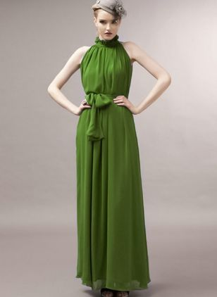 Solid Wrap Sleeveless Maxi Shift Dress