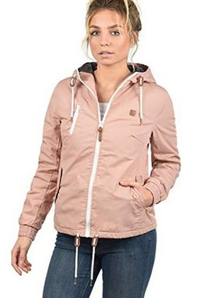 2018 Women's Fashion Plus Size Casual Raincoat High Collar Windbreaker Light Weight Outerwear Jackets with Hooded