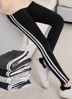 2018 Damesmode Sexy Stripe Training Sport Yoga Broek Legging Elastische Gym Fitness Workout Run