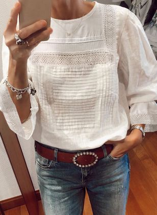 Solid Spring Blouses (4864342)