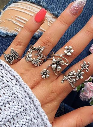 Floral No Stone Rings (146937173)