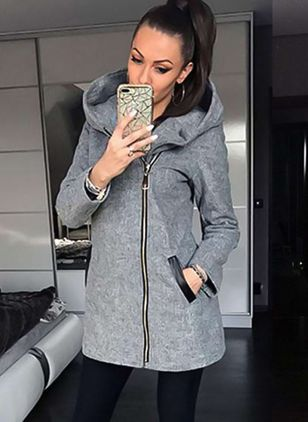 Women Fashion Winter Cotton Hooded Coat Casual Long Sleeve Jackets Outerwear