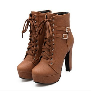 Women's Boots Ankle Boots Spool Heel Leatherette Shoes