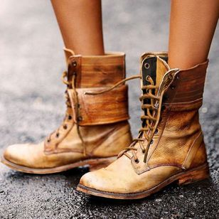 Women's Lace-up Ankle Boots Low Heel Boots (1467660)