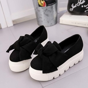 Women's Platforms Closed Toe Wedge Heel Cloth Shoes