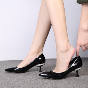 1d4a6fc07d3d Crystal Pointed Toe Spool Heel Shoes