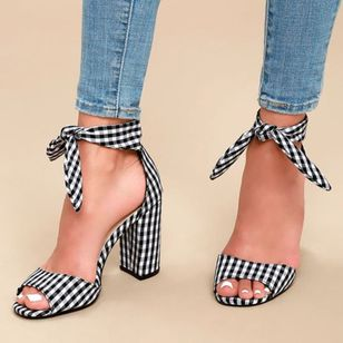 Lace-up Heels Chunky Heel Shoes