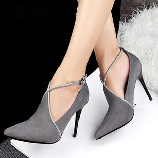 Women's Closed Toe Leatherette Stiletto Heel Pumps (1496927)