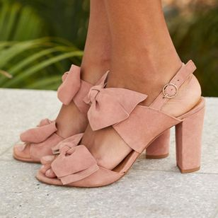 Bowknot Buckle Heels Chunky Heel Shoes