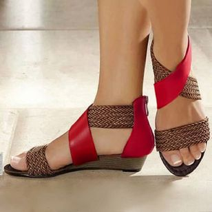 Women's Knit Wedge Heel Sandals (1347850)
