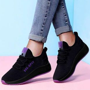 Women's Lace-up Flats Flat Heel Sneakers (146983324)