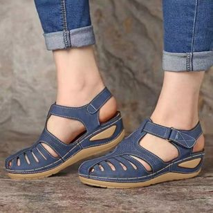Women's Buckle Flats Low Heel Sandals (1515540)
