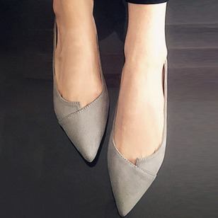 Women's Flats Closed Toe Flat Heel Suede Shoes