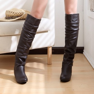 Others Mid-Calf Boots Chunky Heel Shoes