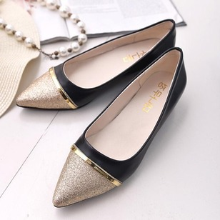 Women's Flats Flats Closed Toe Flat Heel Leatherette Shoes