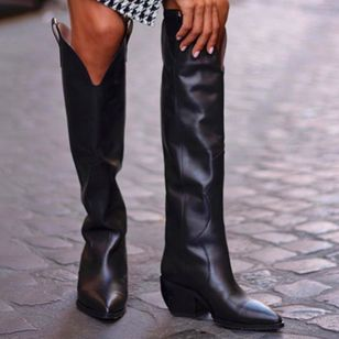 Women's Knee High Boots Chunky Heel Boots (100668748)