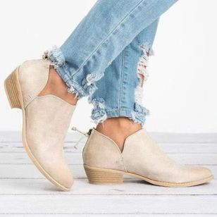 Women's Ankle Boots Closed Toe Low Heel Boots (102930785)